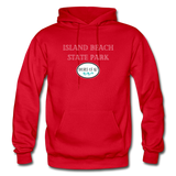 Island Beach State Park - Shores of NJ Hoodie - red