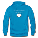Island Beach State Park - Shores of NJ Hoodie - turquoise
