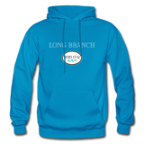 Long Branch - Shores of NJ Hoodie - turquoise