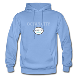 Ocean City - Shores of NJ Hoodie - carolina blue