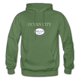 Ocean City - Shores of NJ Hoodie - military green