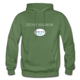 Stone Harbor - Shores of NJ Hoodie - military green