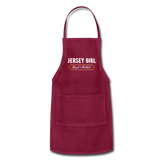 Jersey Girl Blessed & Thankful Apron - burgundy