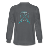 Keepin' It Reel Long Sleeve T-Shirt - charcoal