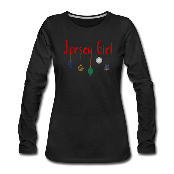 Jersey Girl Holiday Ornaments T-Shirt - black