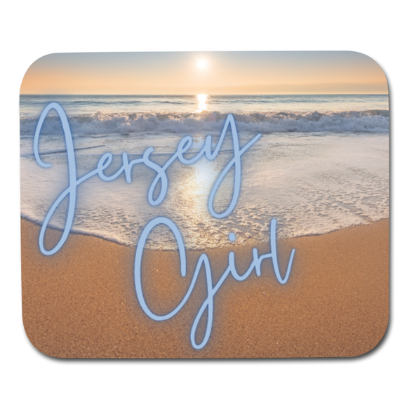 Jersey Girl Mouse Pad - white