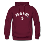 Jersey Shore Anchor Hoodie - burgundy