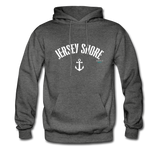 Jersey Shore Anchor Hoodie - charcoal gray
