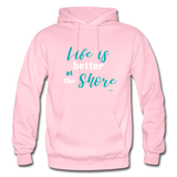 Life is better at the Shore Hoodie - light pink