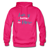 Life is better at the Shore Hoodie - fuchsia