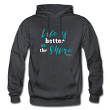 Life is better at the Shore Hoodie - charcoal gray