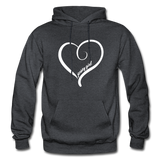 Jersey Girl Heart Hoodie - charcoal gray
