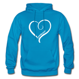 Jersey Girl Heart Hoodie - turquoise
