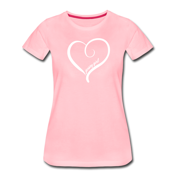Jersey Girl Heart T-Shirt - pink