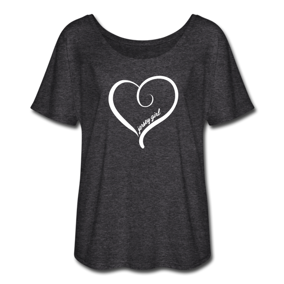 Jersey Girl Heart T-Shirt - charcoal gray