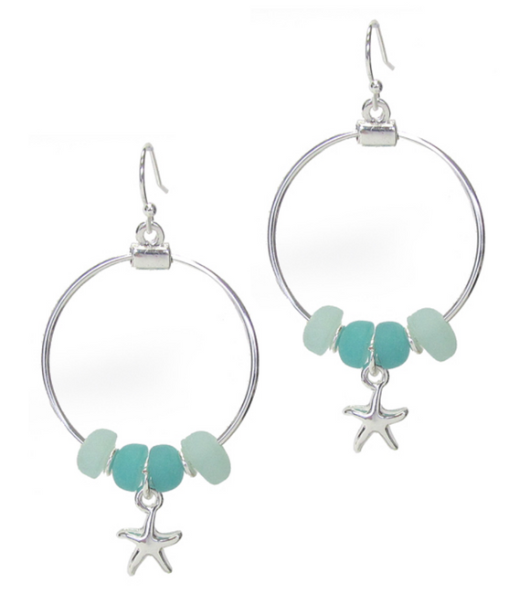 Starfish Sea Glass Earrings - Shores of NJ LLC