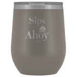 Sips Ahoy Wine Tumbler - Shores of NJ LLC