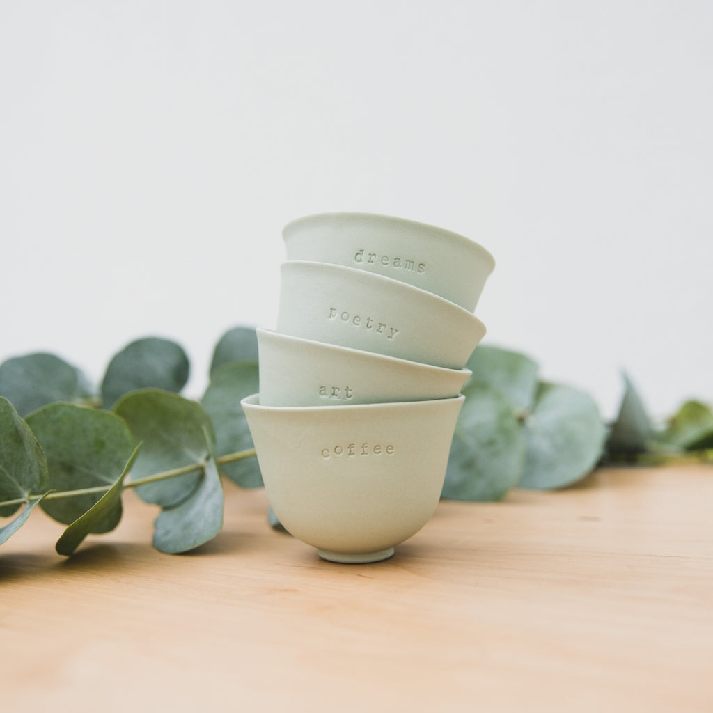 Mint Green Espresso Cups (set of 4)