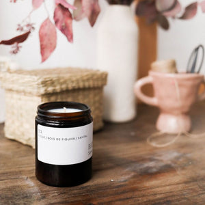 figue and sandalwood candle in context