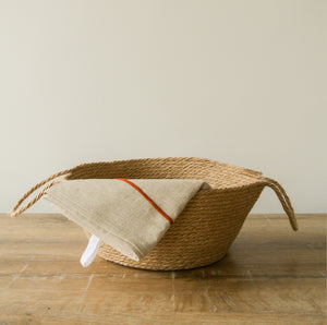 homewares inside a jute basket