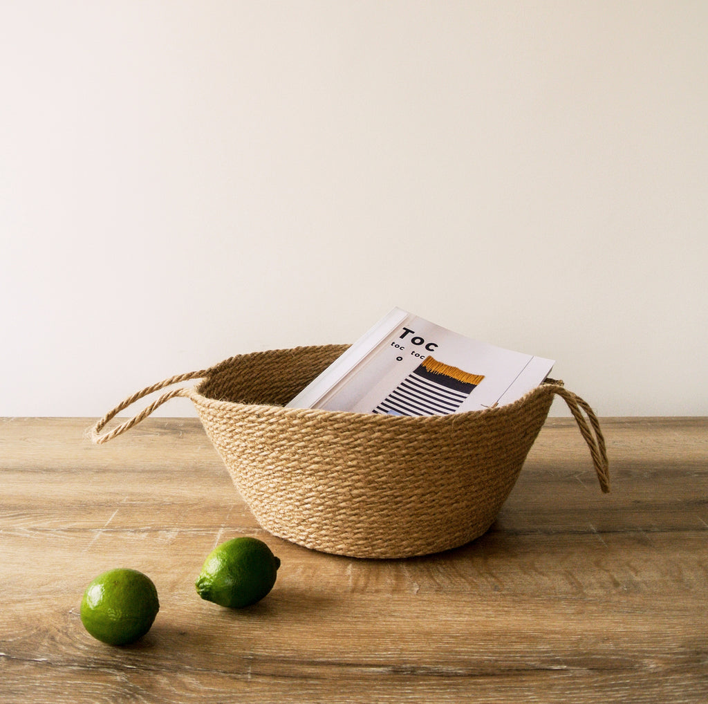 Natural handcrafted basket (small)