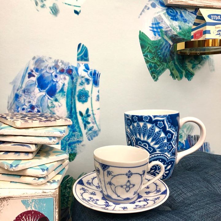 Image of Porcelain-Blue and white porcelain-Blue-Coffee cup-Cup-Tableware-Saucer-Cup-Teacup-1217764195051397