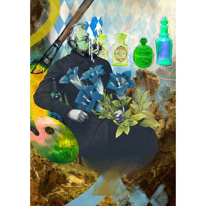 Image of Illustration-Painting-Art-Fictional character-Still life-Visual arts-Water bottle---1477396249088189