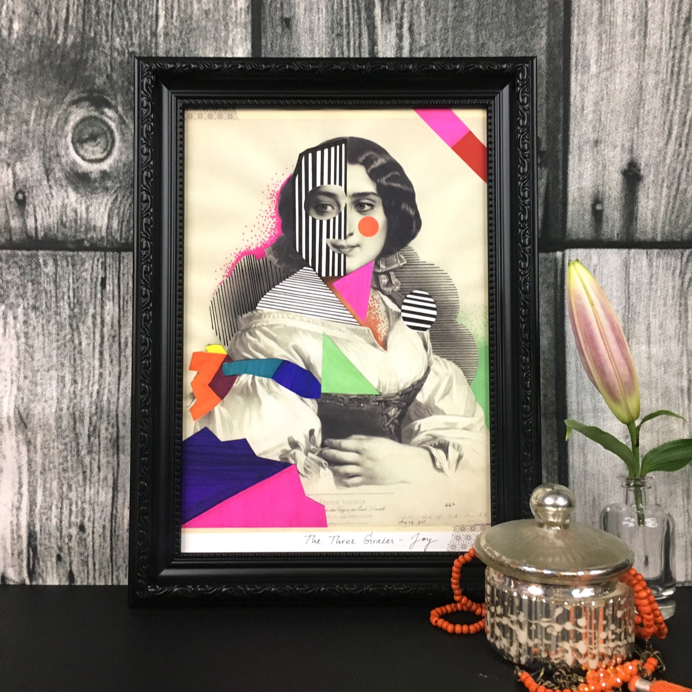 Framed art of a graceful woman