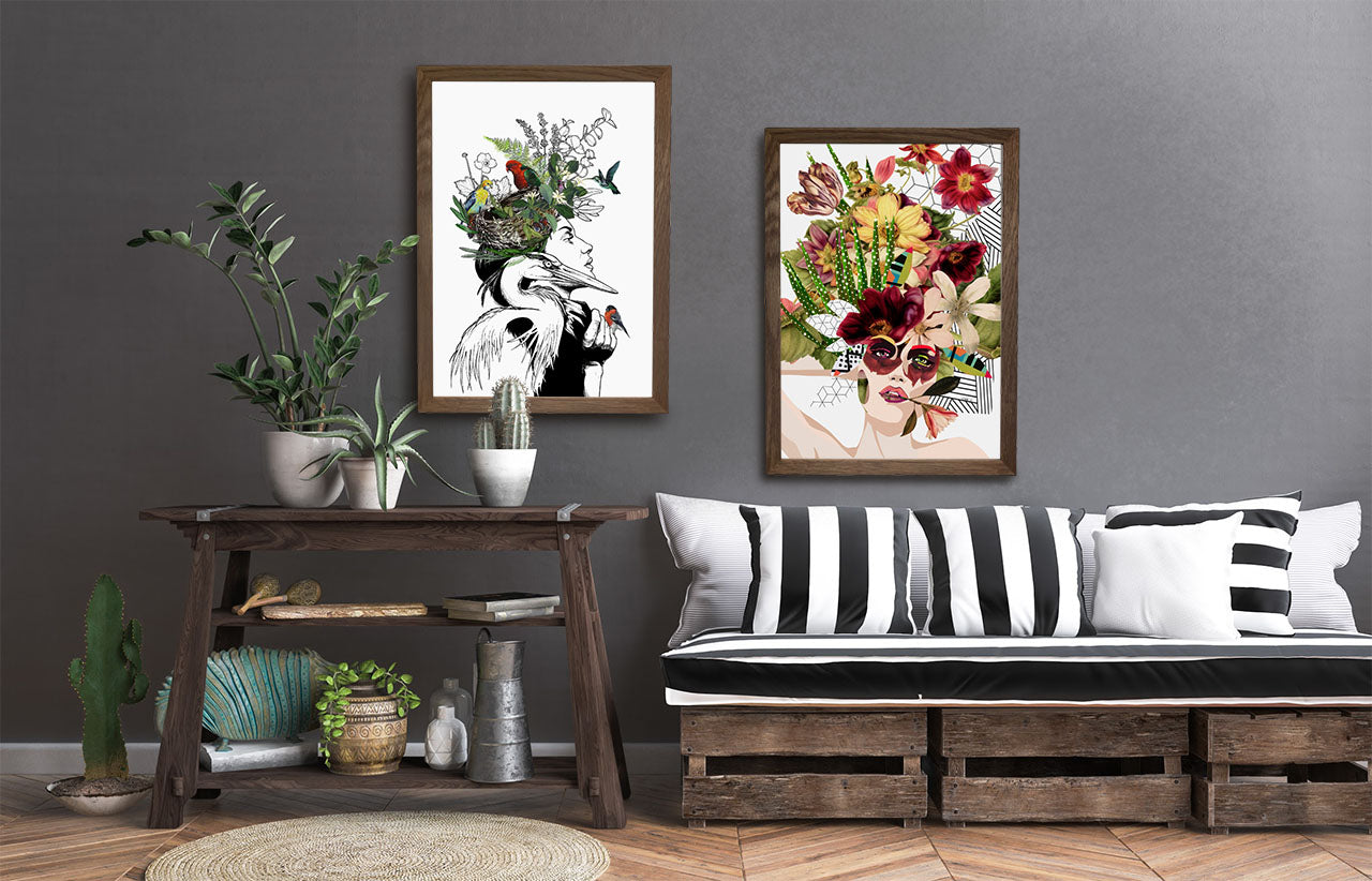 Woman With Flowers Art Prints