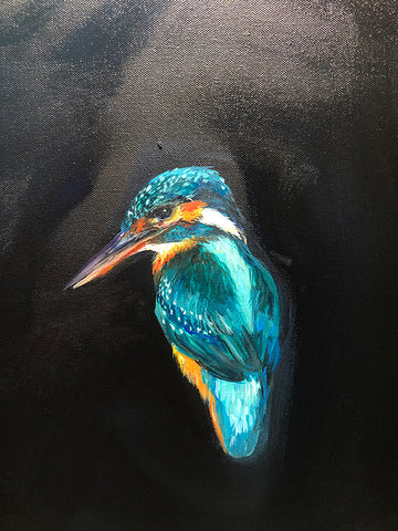 Close up of the painting - kingfisher