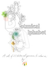 download link to the Botanical Alphabet Coloring Book