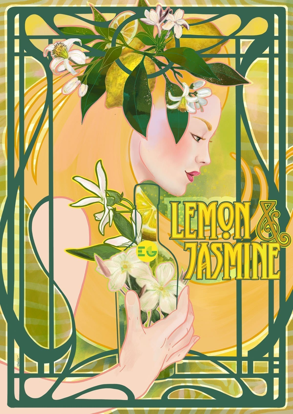 Edinburgh Gin Lemon & Jasmine Giclée Art Print
