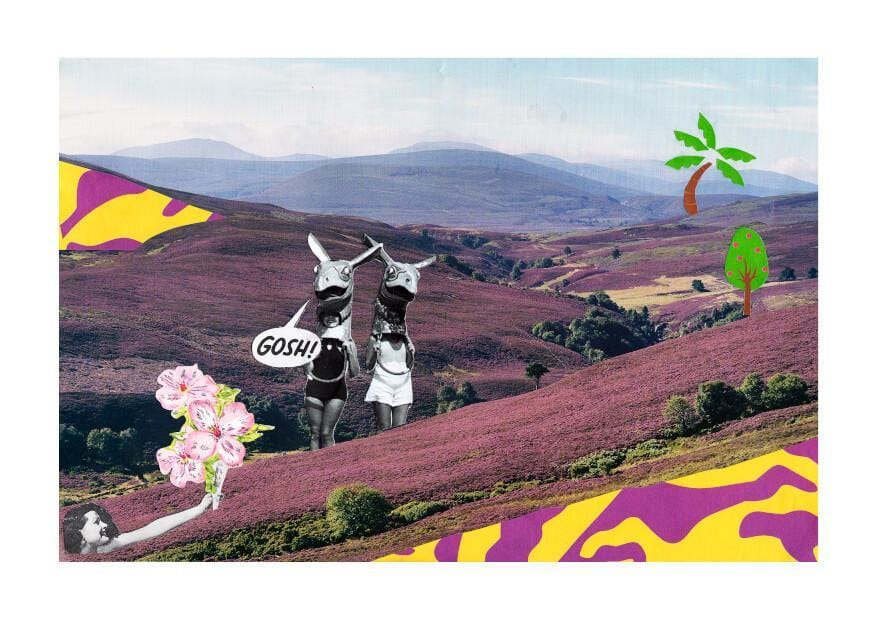 Gosh Collage Matte Art Print