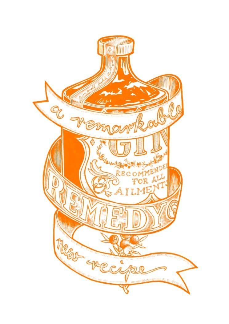 Orange Remarkable Remedy Matte Art Print