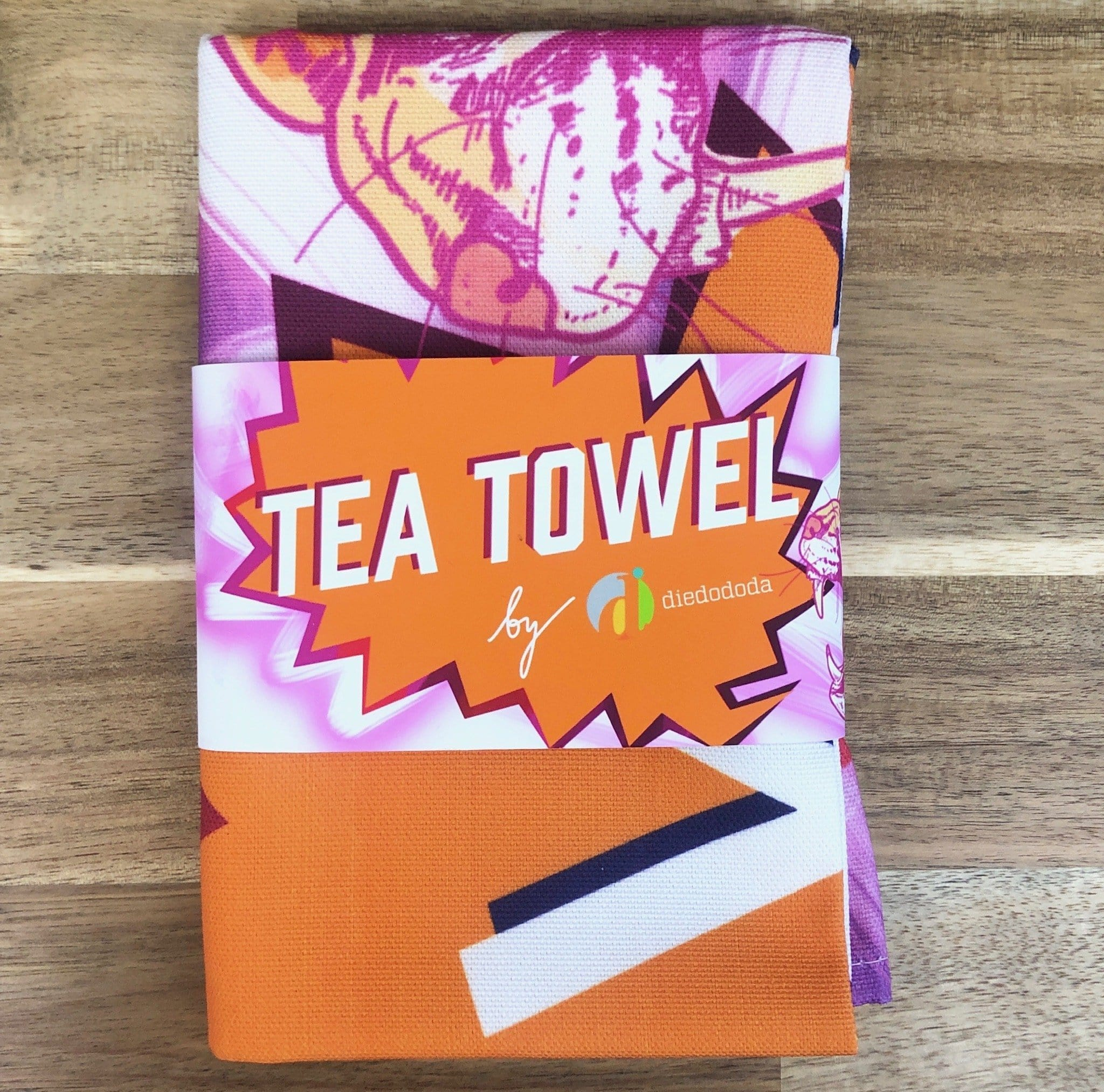 Neon Leopard Tea Towel