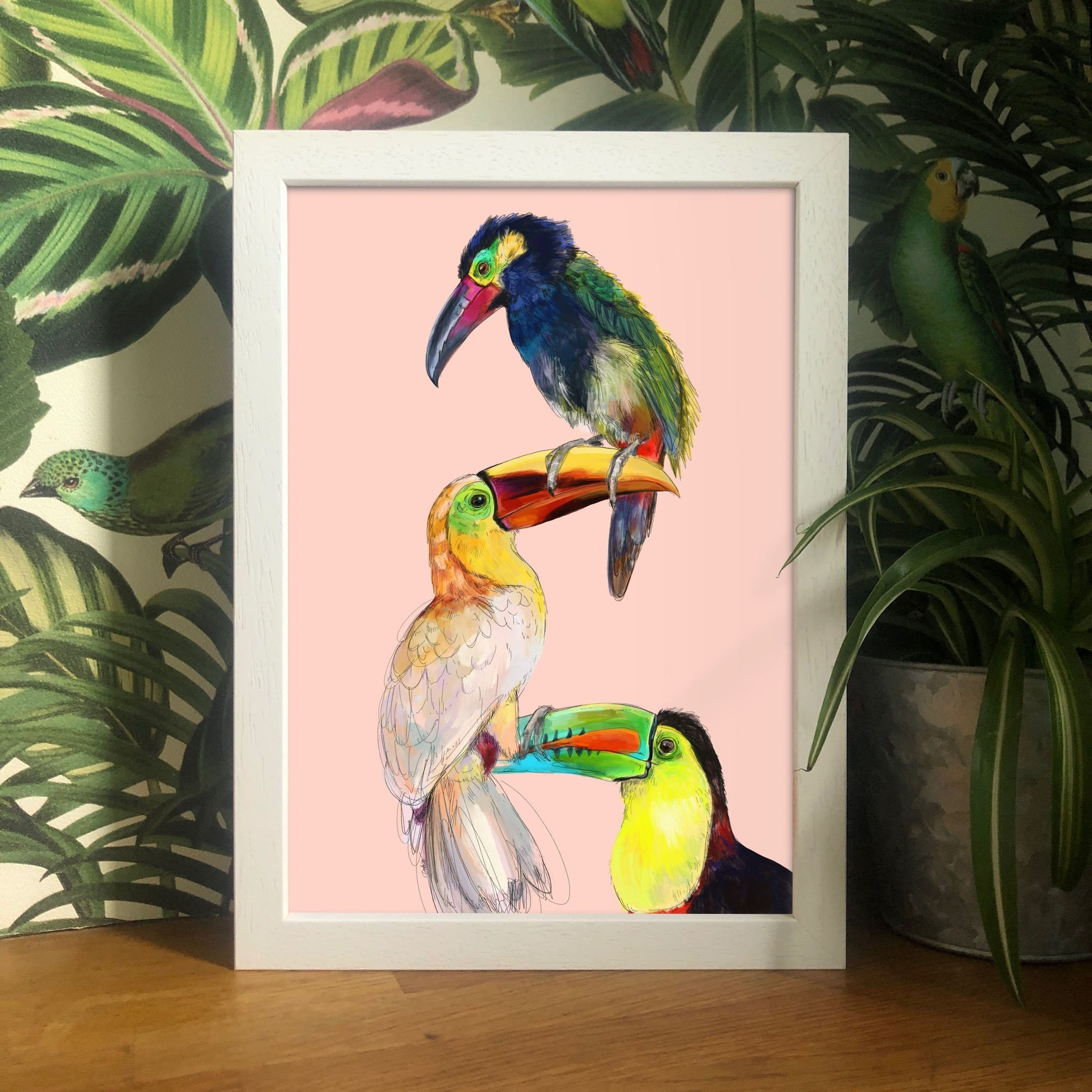Tower Of Toucans Giclée Art Print