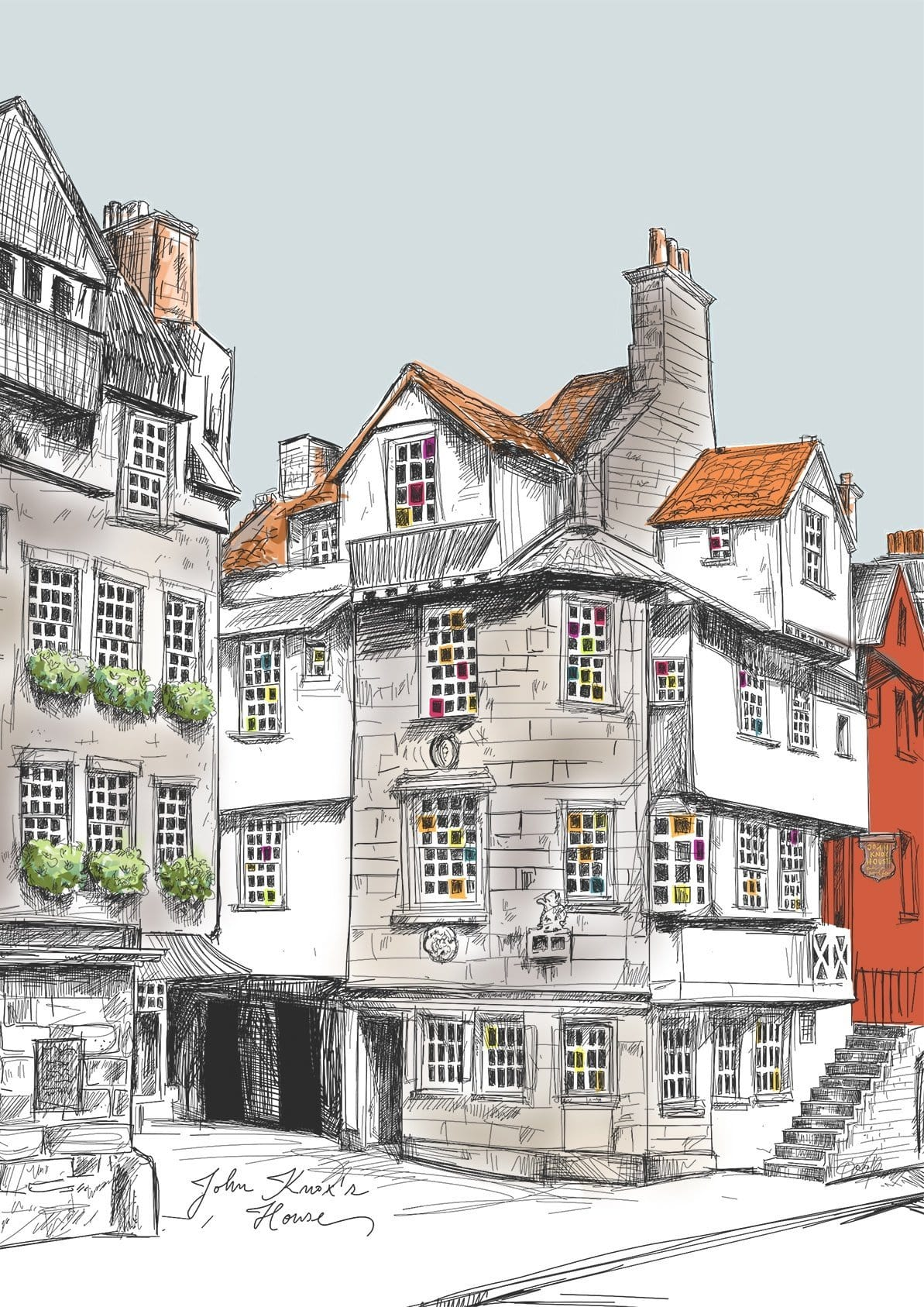 John Knox House Edinburgh Matte Art Print