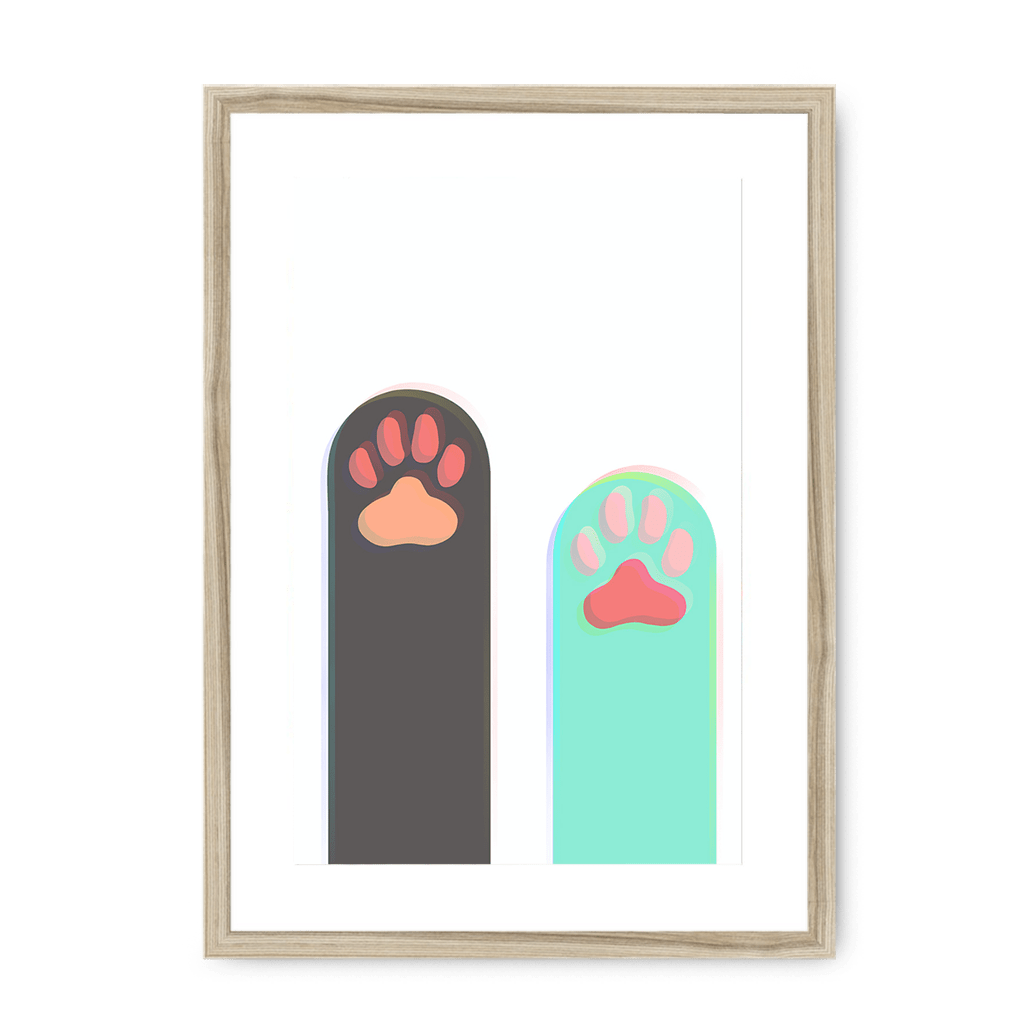 Paws Up Matte Framed with a Mount Print