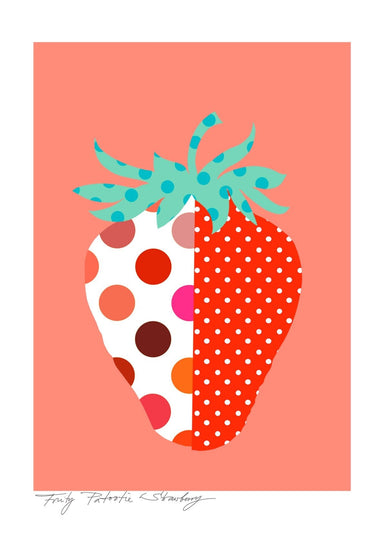 Strawberry Matte Art Print