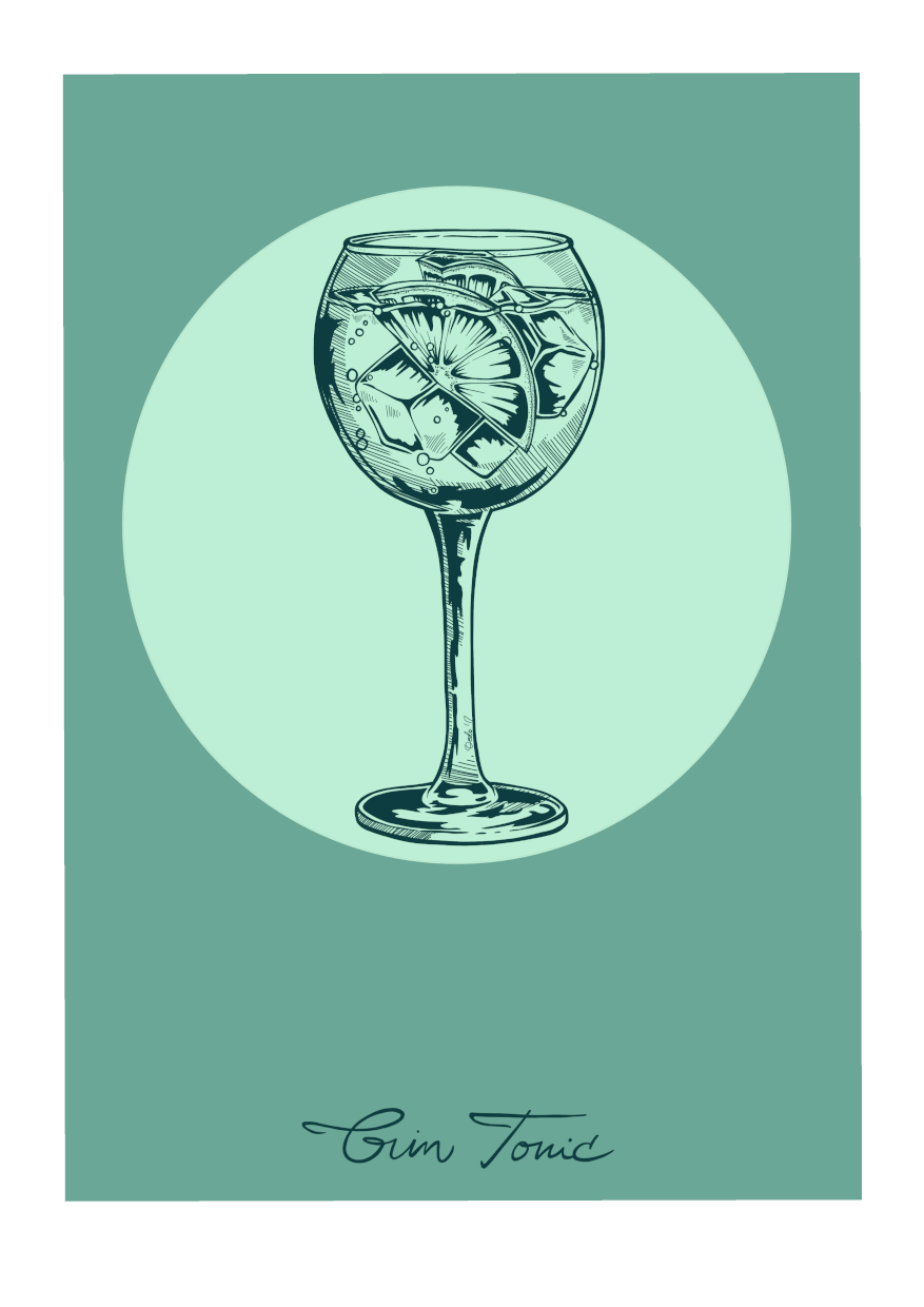 Gin Tonic 36X24 inch Canvas Print