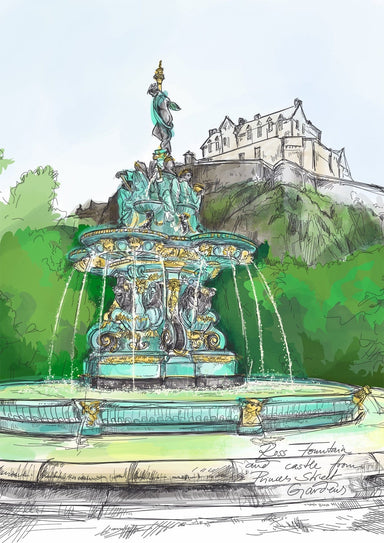 Ross Fountain Matte Art Print