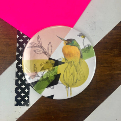 Mustard Bird Pocket Mirror