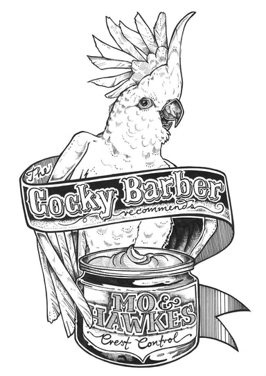 Cocky Barber Matte Art Print