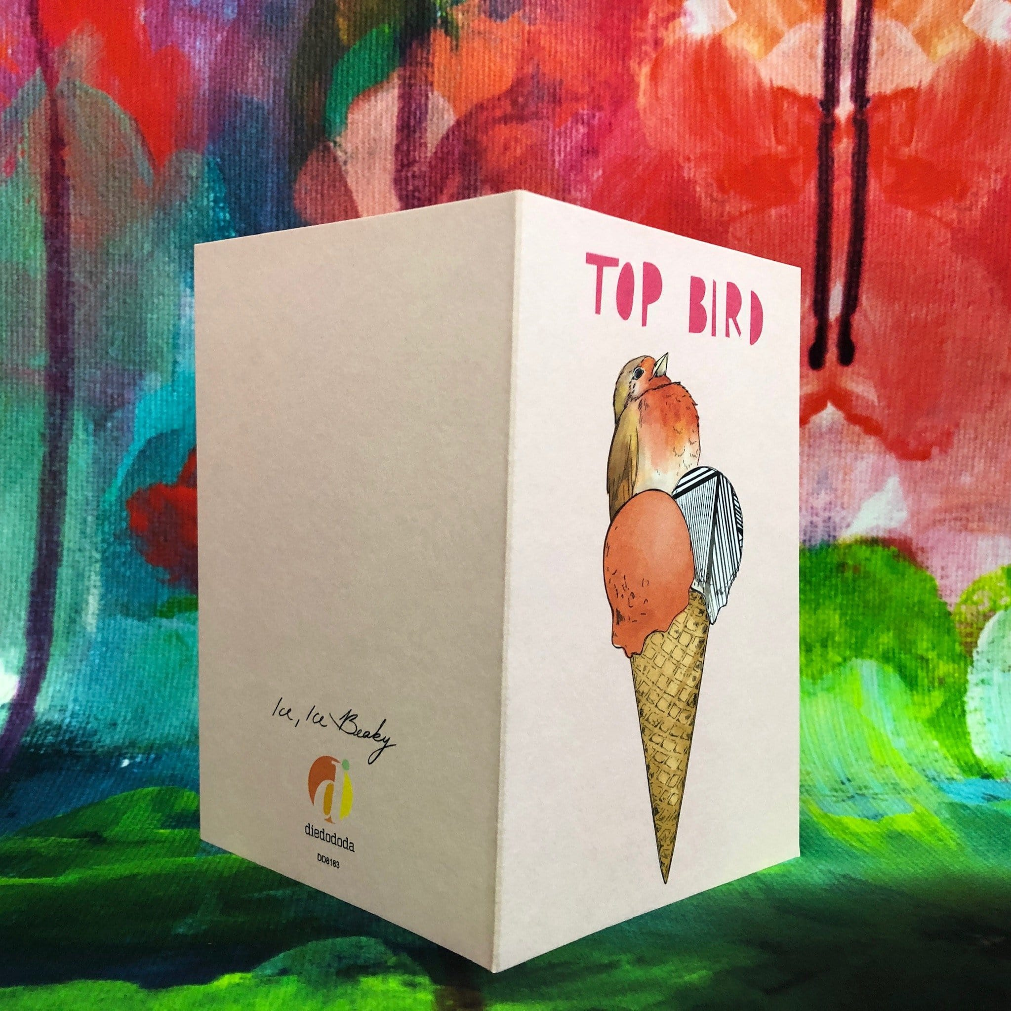 Ice Ice Beaky Top Bird Greeting Card