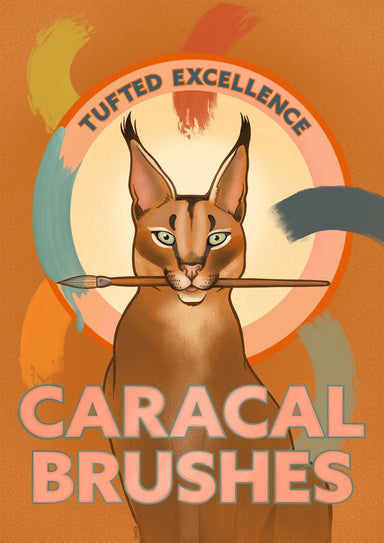 Caracal Brushes Giclée Art Print