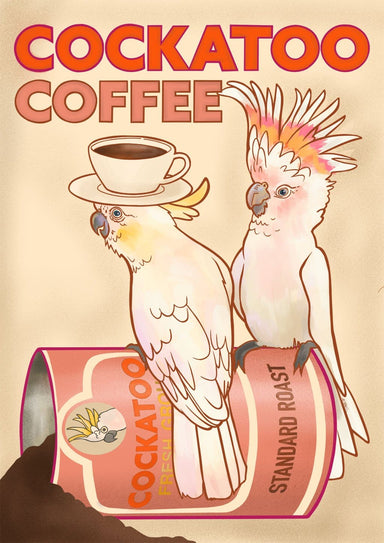 Cockatoo Coffee Giclée Art Print