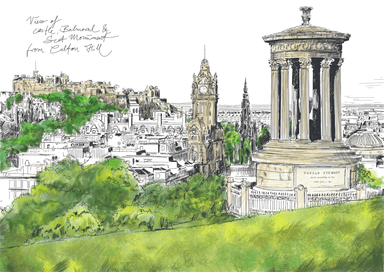 Calton Hill Edinburgh Matte Art Print