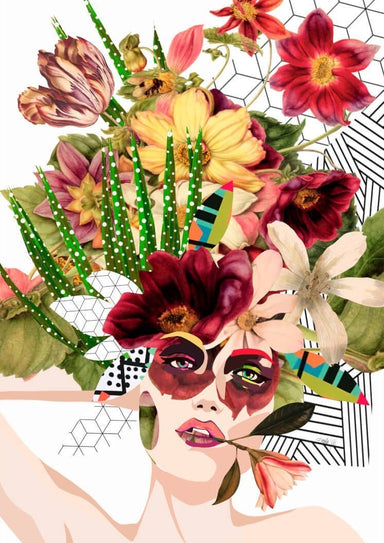 Daydreamer Collage Matte Art Print
