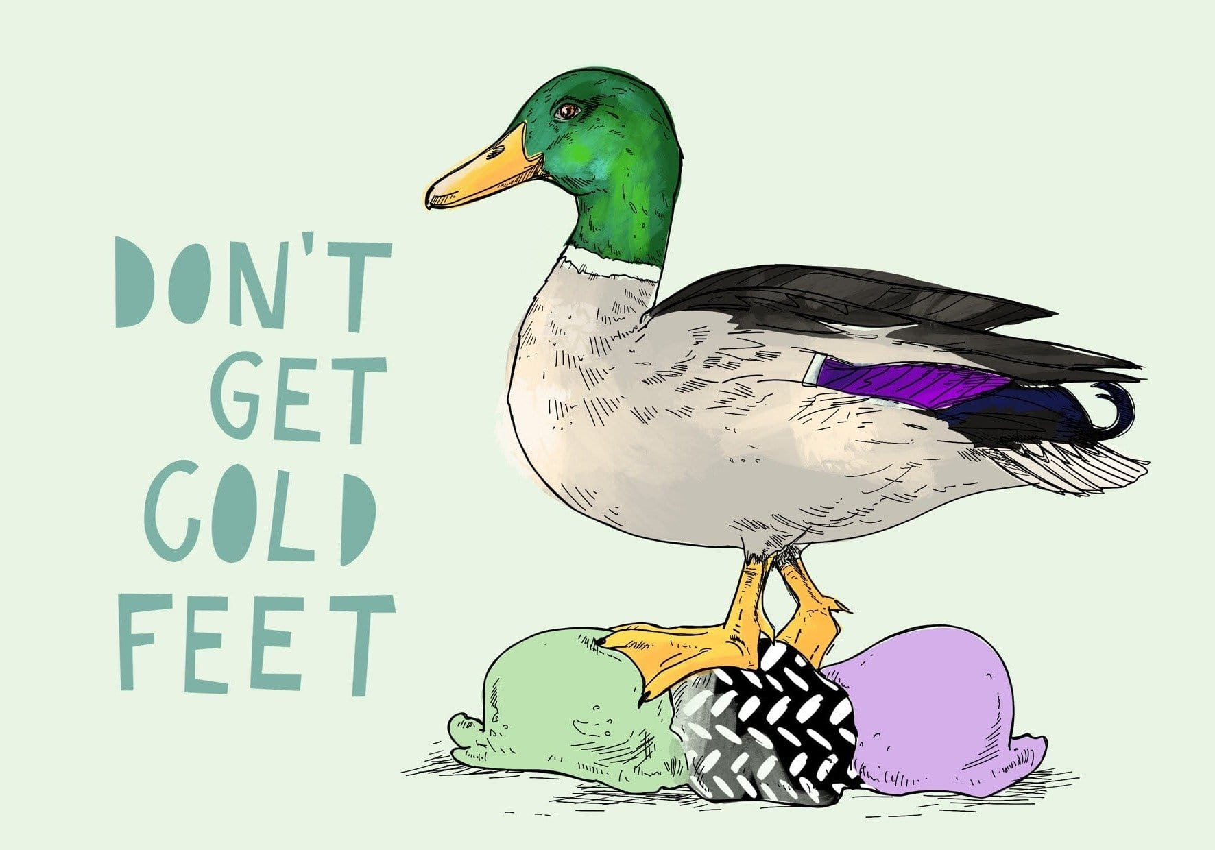 Ice Ice Beaky - Cold Feet Greeting Card