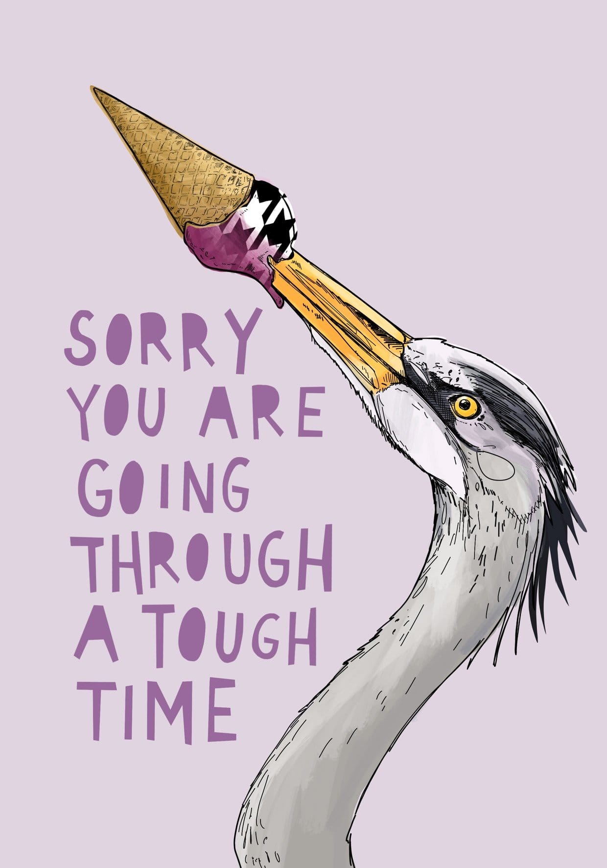 Ice Ice Beaky - Tough Time Greeting Card